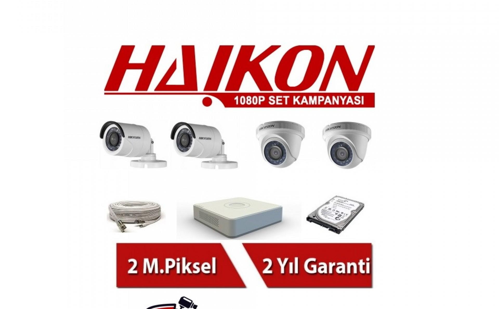 4 Lü Haikon Güvenlik Kamerası Seti