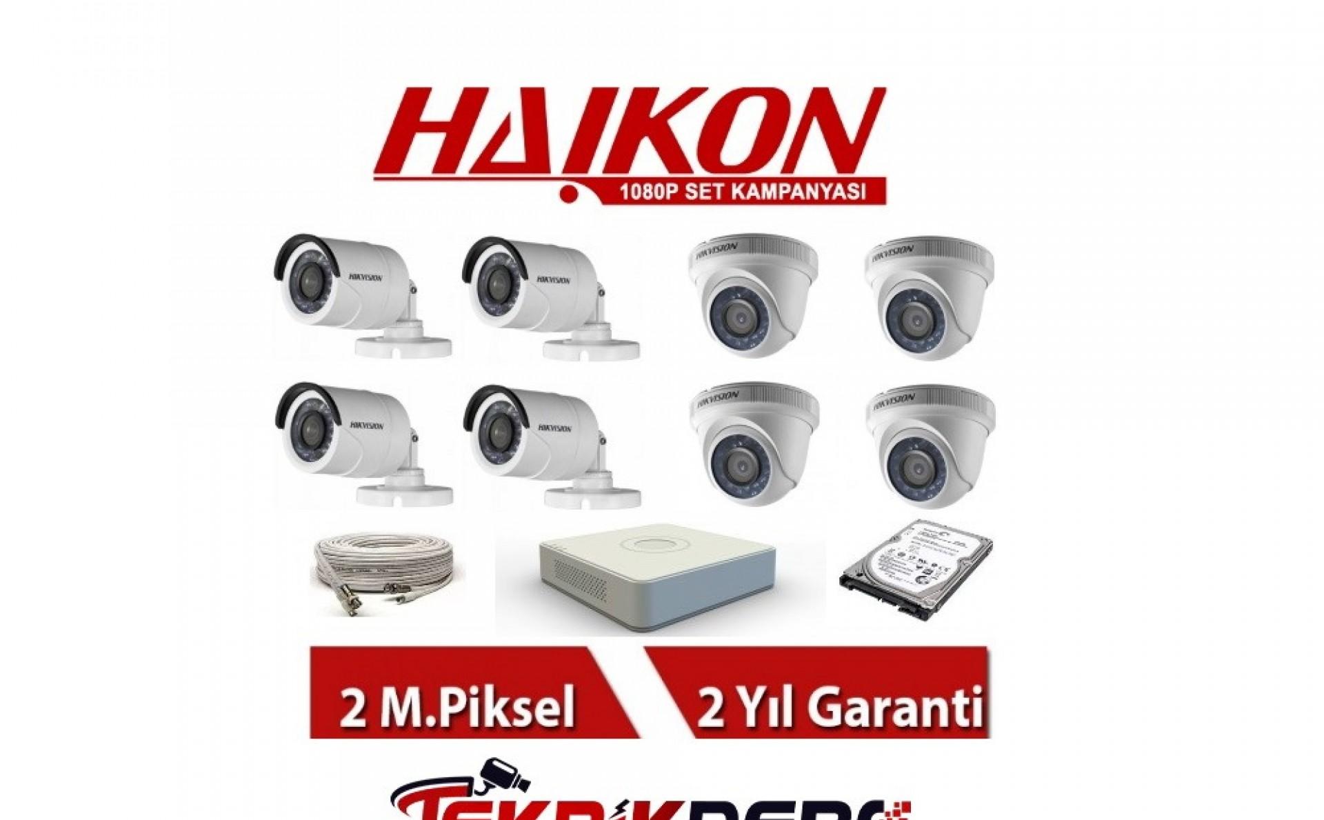 8 Li Haikon Güvenlik Kamerası Seti
