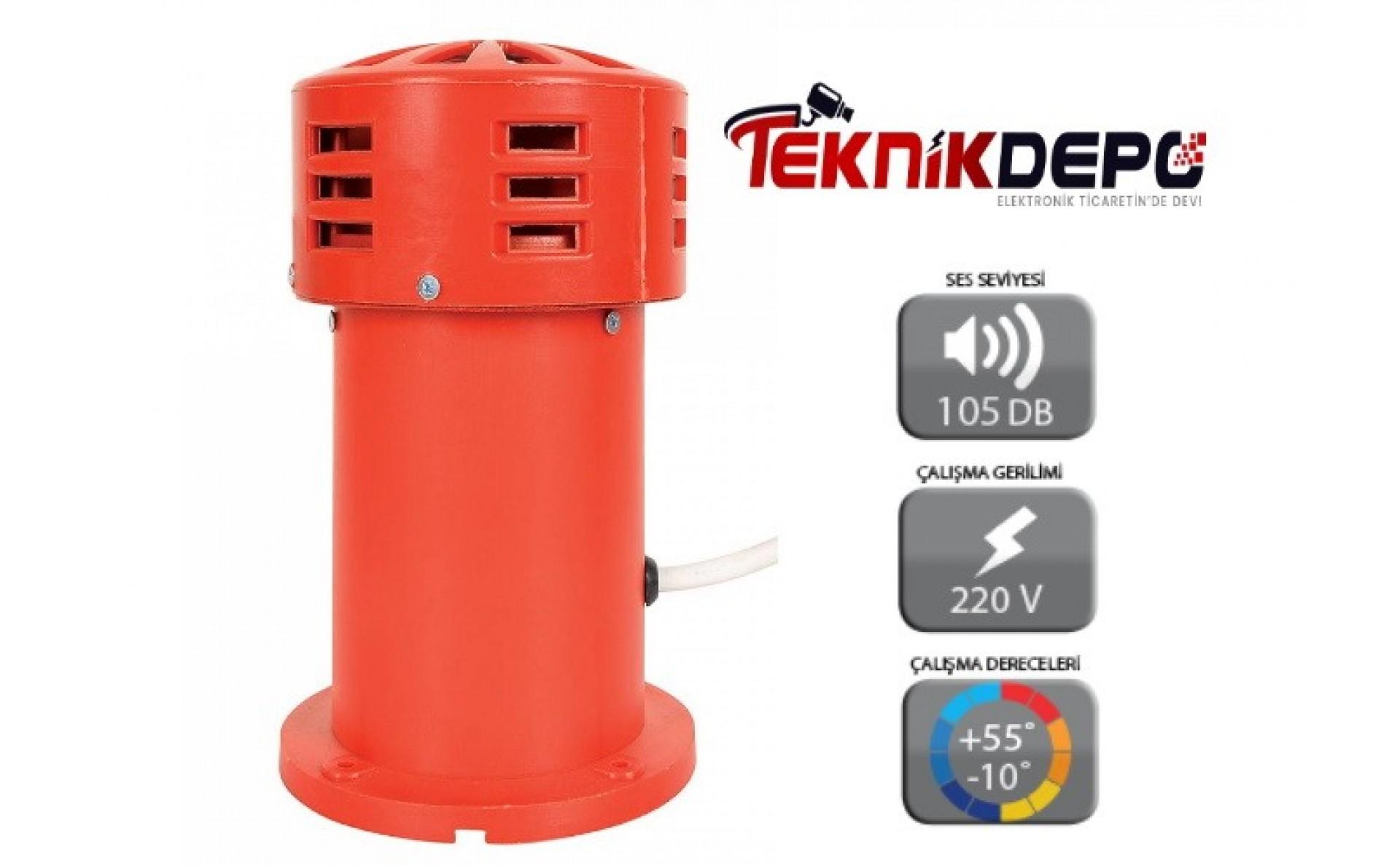 Motorlu Siren Plastik Kasa ( 105 db )